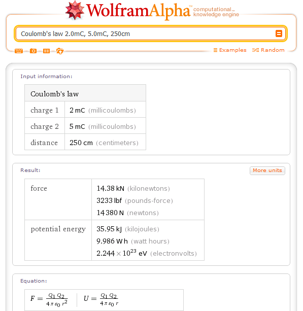 wolfram alpha the computational search engine Or bing) for general information, and wolfram|alpha for computational  siri  can search the web using whichever search engine you've set.