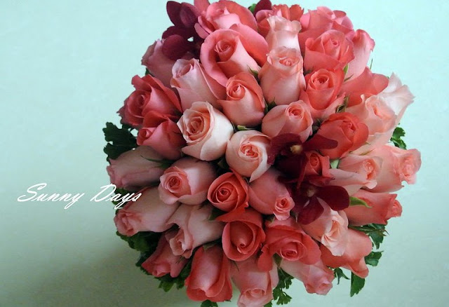 red orchid bouquet RM100
