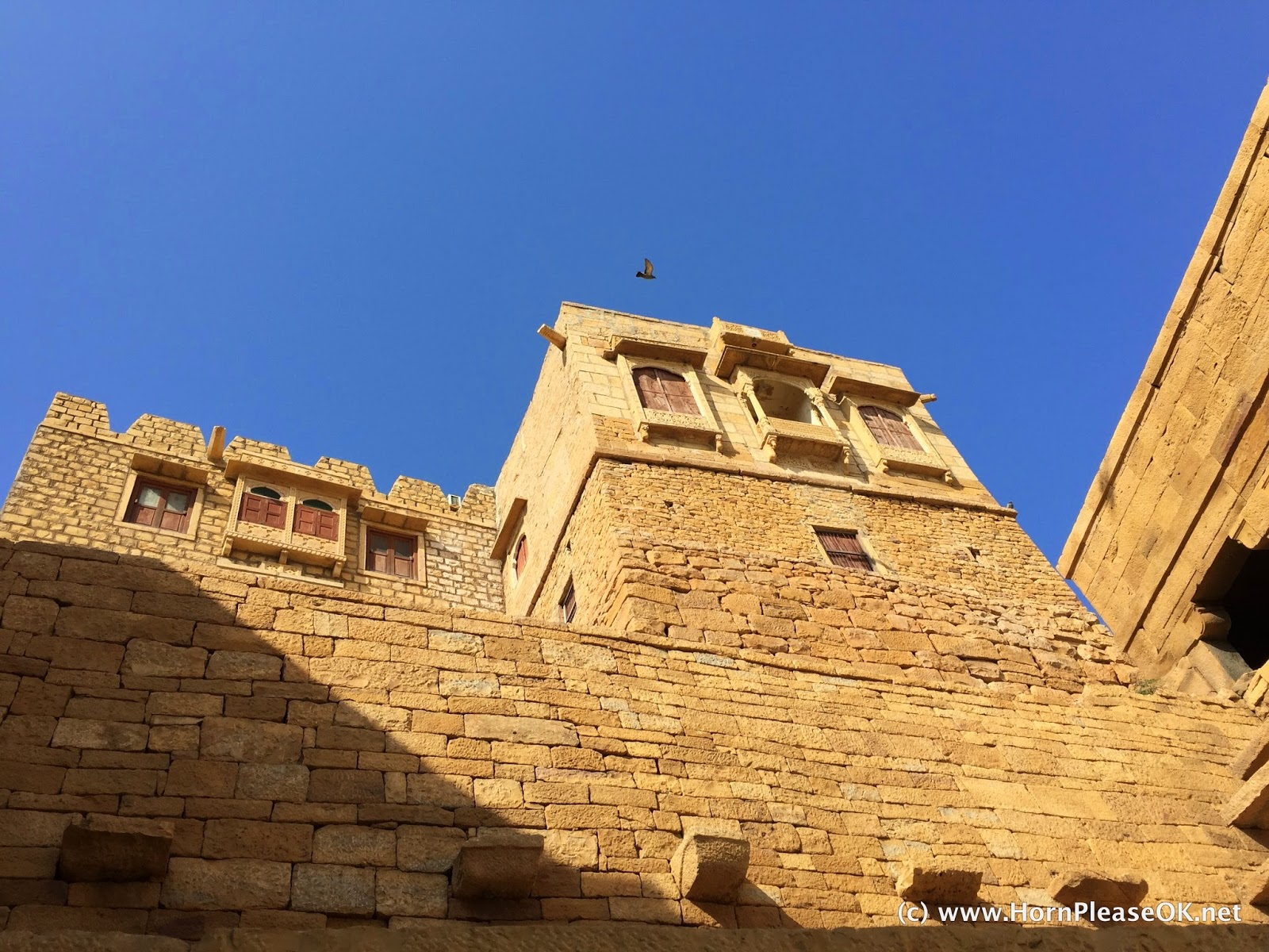 The Golden Fort at Jaisalmer made out of yellow sandstone