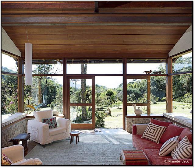 Maison ecologique au Brésil bois hacienda