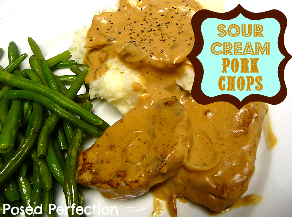 Sour Cream Pork Chops by Posed Perfection