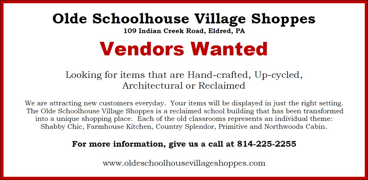 Olde Schoolhouse Vendors