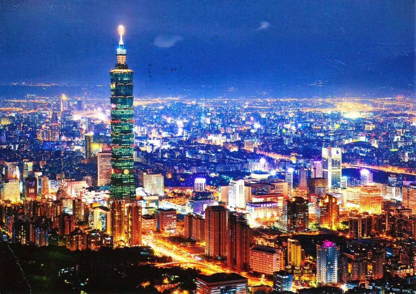 postcard, taiwan, taipei