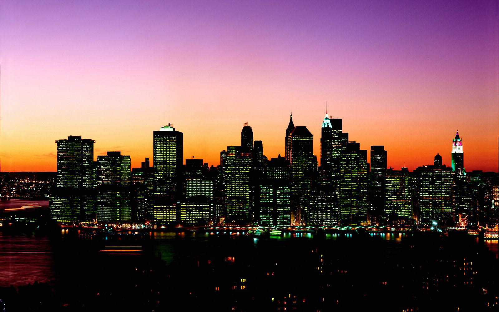 Wallpapers manhattan new york city for Places to see in nyc at night