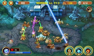 Screenshots of the Castle Defense for Android tablet, phone.