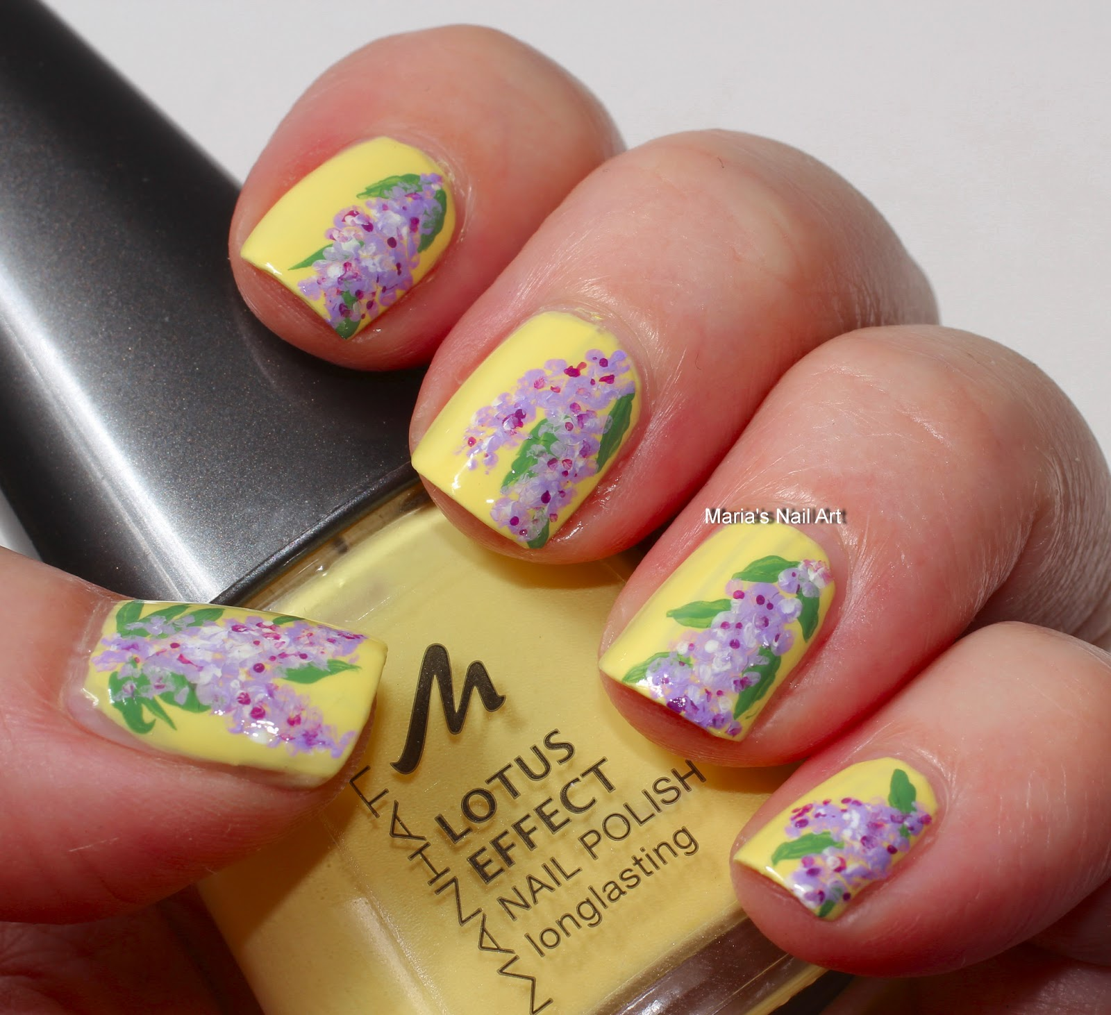 Marias nail art and polish blog wisteria on pastel yellow wisteria on pastel yellow dhlflorist Image collections