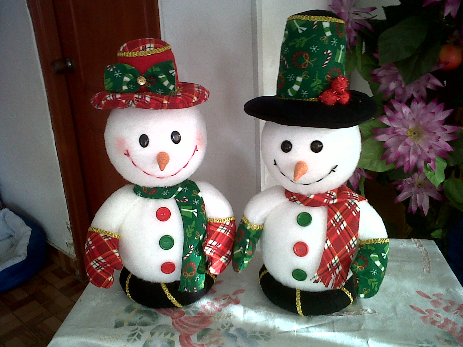 Nancy caballero sierra manualidades pao mu ecos de nieve - Manualidades munecos de navidad ...