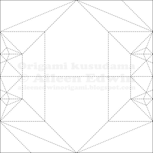Origami Kusudama Module CP Dual-Coloured (Aileen Edwin)