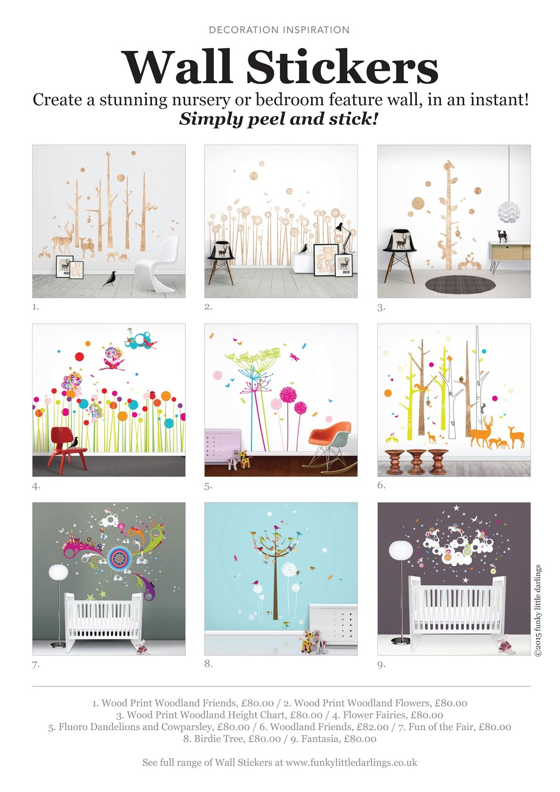 Funky Little Darlings' Giant Wall Stickers For A Feature Wall Mood Board