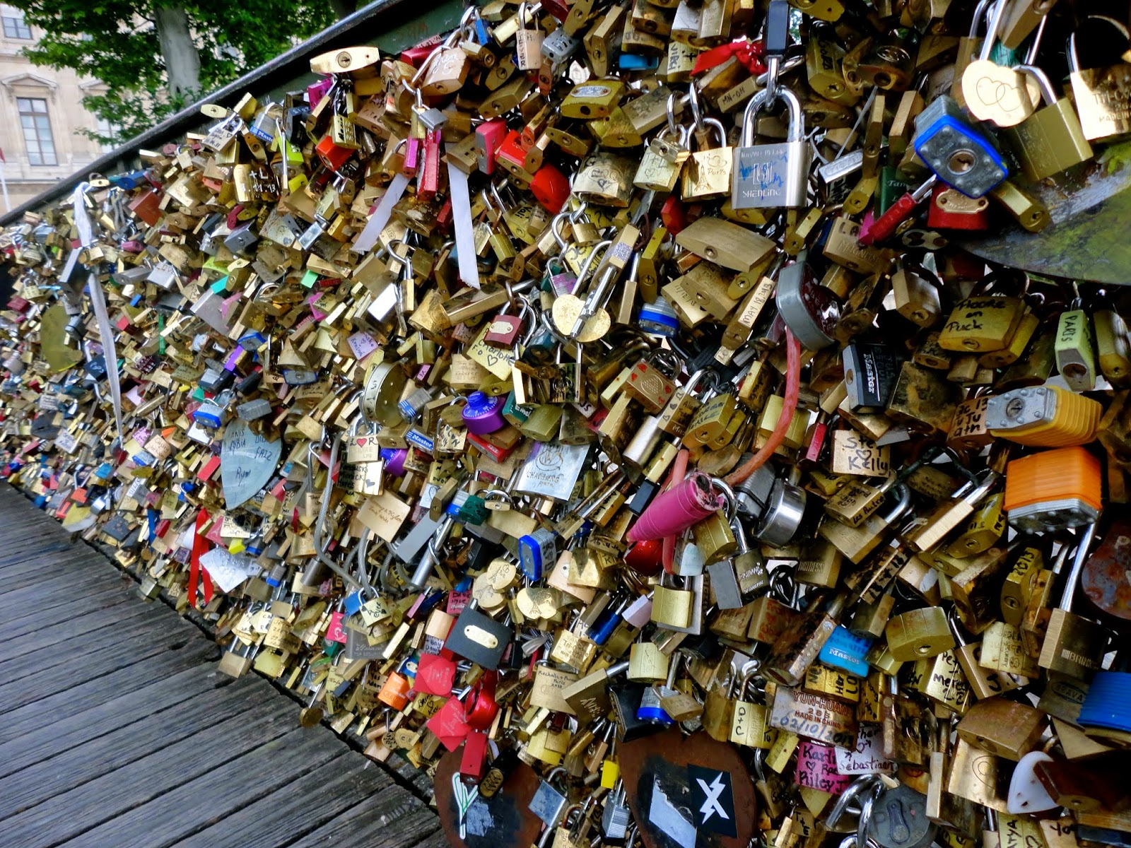 Locks of love bridge, Paris
