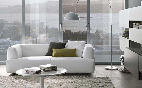 Salas modernas con elegantes muebles ideas para decorar - Sofas de diseno moderno ...