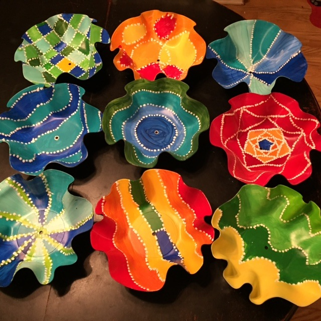 Rethink crafts art week 2015 recycled vinyl record bowls for What to do with old vinyl records