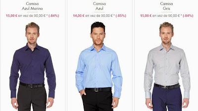 Camisas slim azul o gris