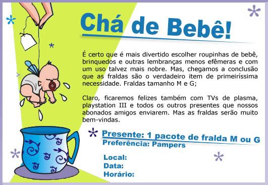 Convite Cha De Bebe Modelo Do Fraldas Compartilhando