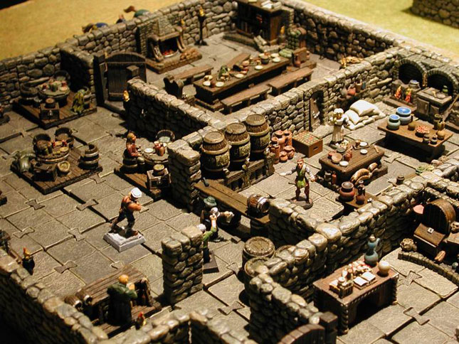 Miniatures For Roleplaying Tabletop Terrain Battlemats