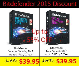 Bitdefender total internet security 2015 Discount coupon code