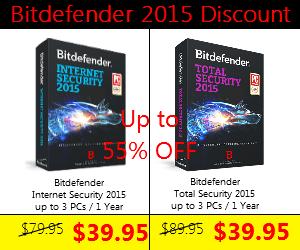 Bitdefender total internet security 2015 Discount coupon code
