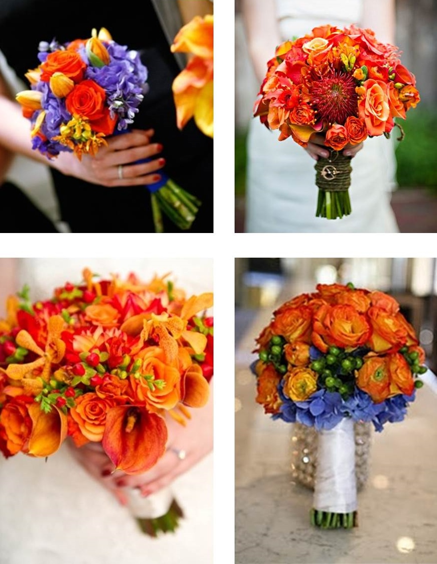 BonnieProjects Designing Planning Orange Wedding Bouquets And