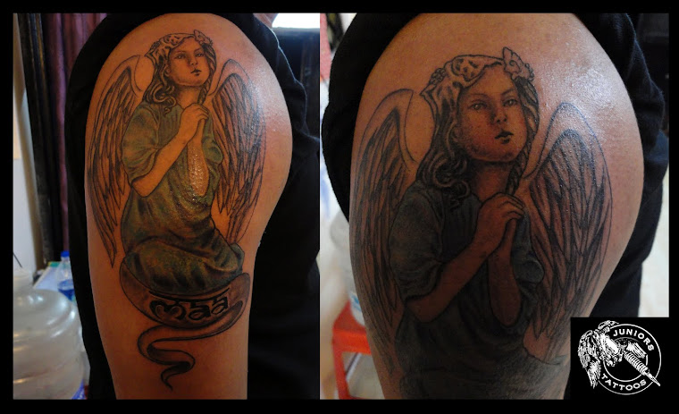 praying Angel tattoo