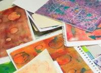 Gelli plate practice prints