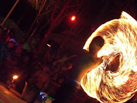 Fire Performer Jungle party Thailand