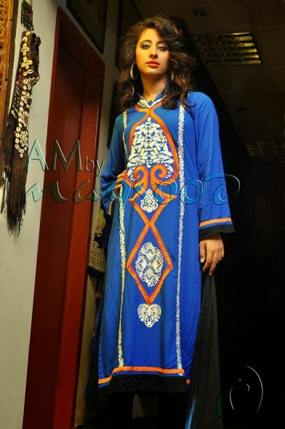 AM Latest Winter Wear Dresses Collection 2013-2014 For Women & Girls Fashion By Maqsood Designs