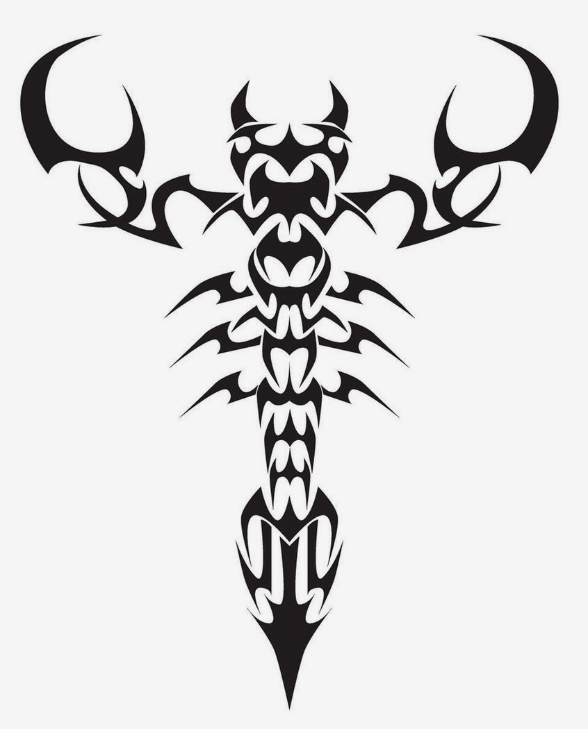 Scorpion tattoo stencil