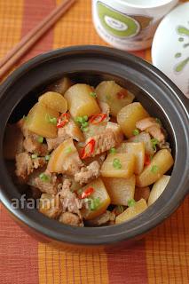 Củ cải kho thịt cho cơm chiều ngon hơn