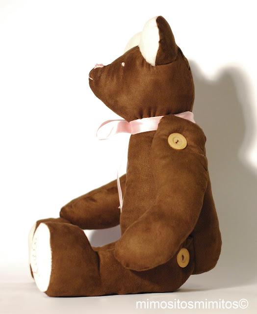 oso peluche suave para bebe hecho a mano personalizado