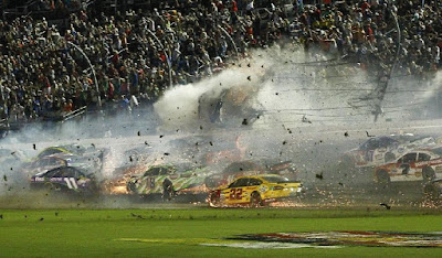 NASCAR Sprint Cup Series driver car crashes