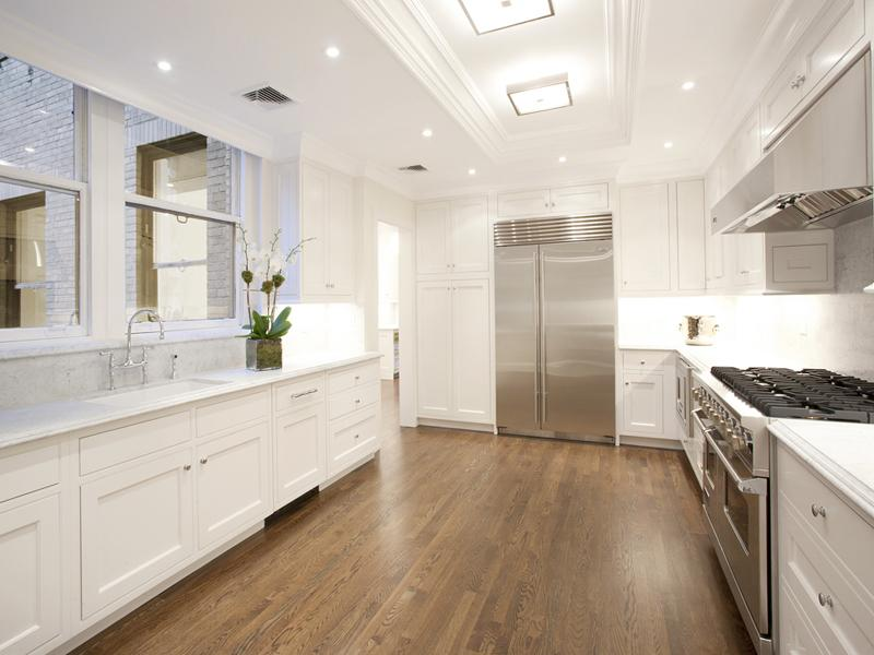 Cococozy see this house a 23 million park avenue stunner for White kitchen with hardwood floors