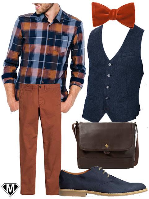 tenue homme automne preppy