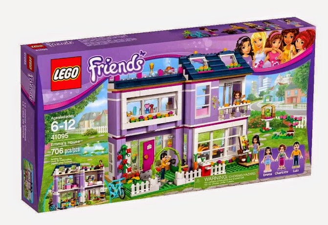 JUGUETES - LEGO Friends - 41095 La Casa de Emma  Producto Oficial 2015 | Piezas: 706 | Edad:  6-12 años