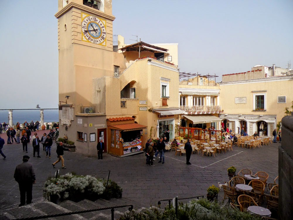 The Piazzetta, Capri. Photos of Capri by Andie Gilmour