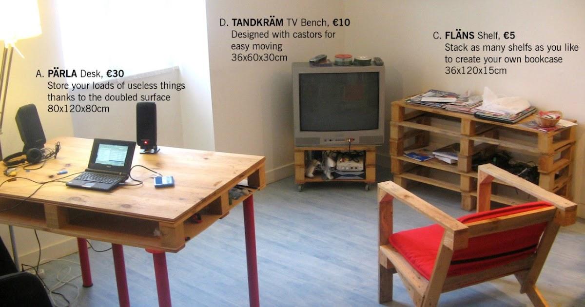 Muebles con palets estilo ikea - Muebles echos con palets ...