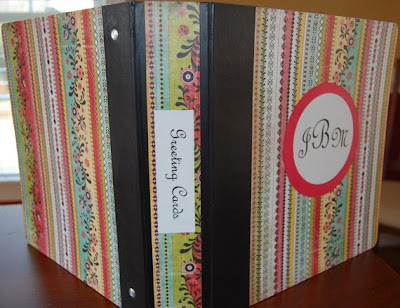 greeting card binder