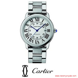 Kate Middleton Style Cartier Ballon Bleu de Cartier Stainless Steel Large Bracelet Watch