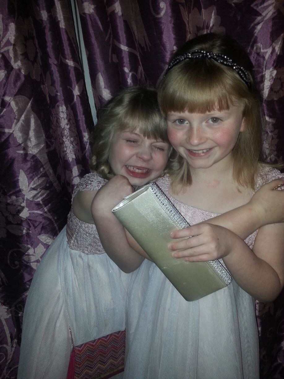 My two oldest Grandfairies: Imogen and Niamh