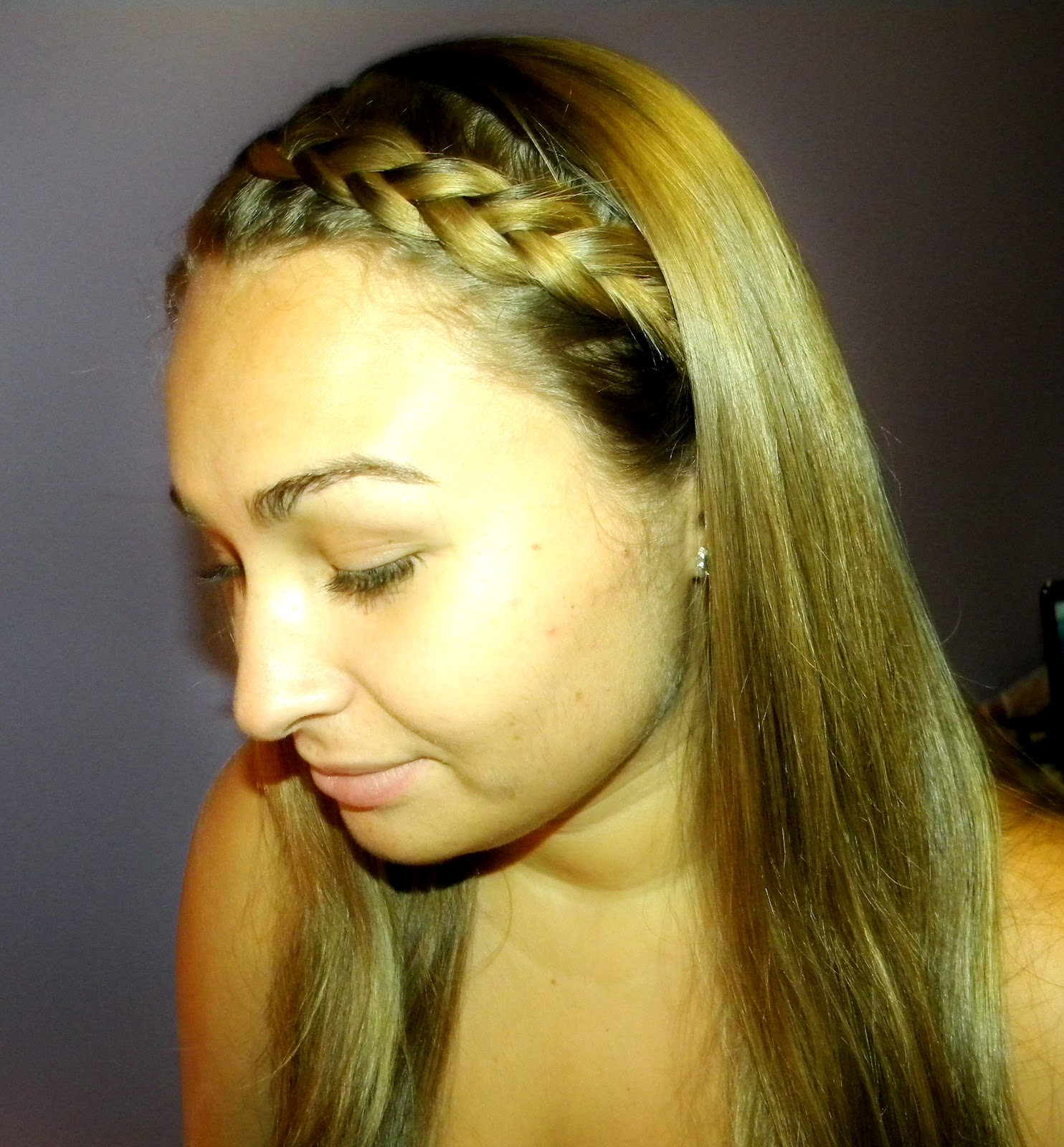 Hair Braid Hairstyles How To Do A French Braided Headband Part By
