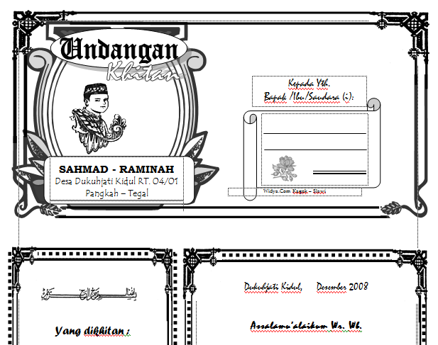 Free Download File Template Undangan Slametan Walimahan Khitanan