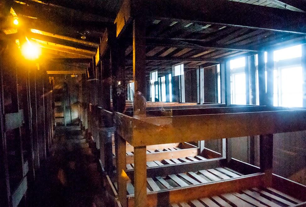 Sachsenhausen concentration camp bunks