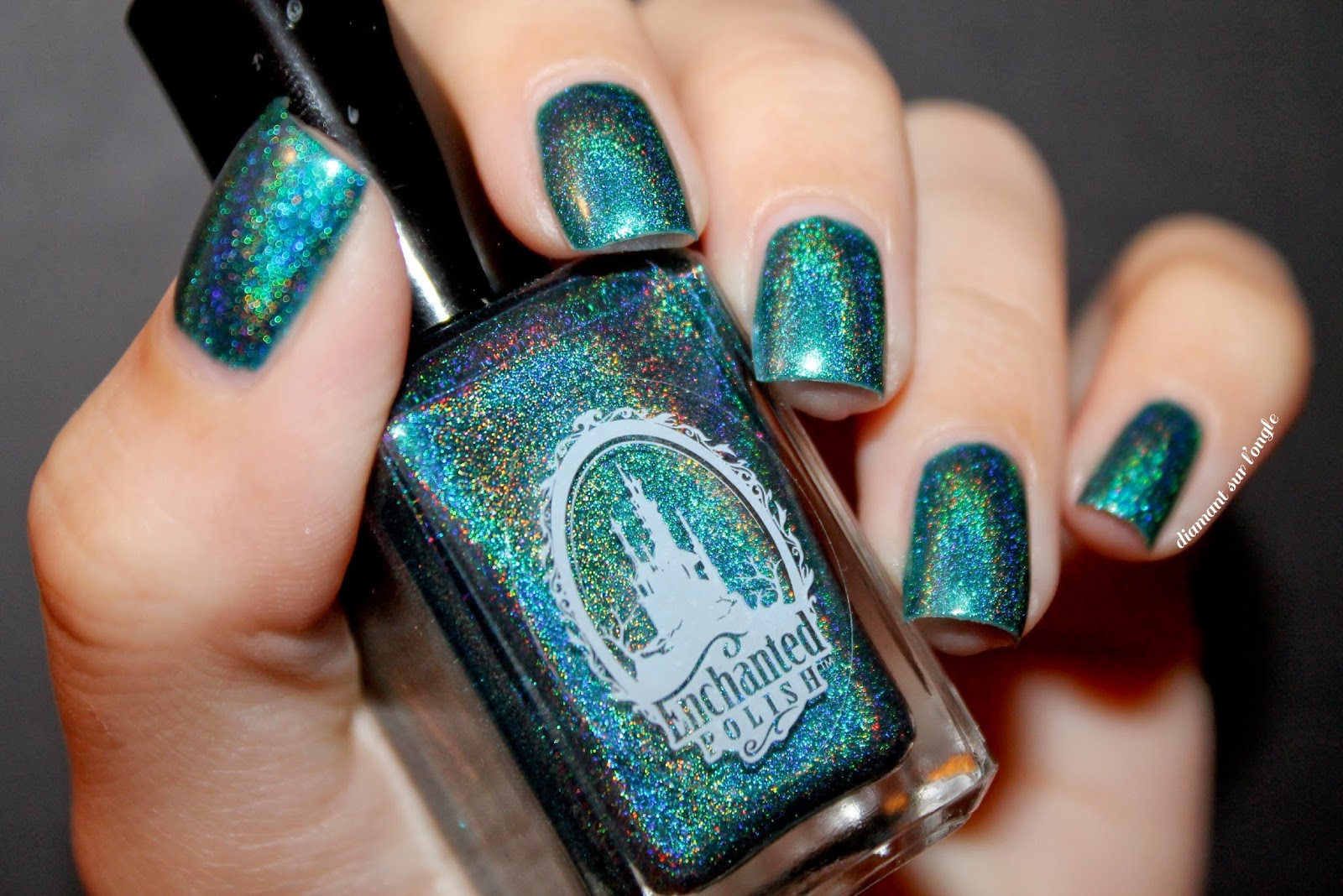 "Swatch of the nail polish ""Scintealliant"" by Enchanted Polish ft. Pshiiit"