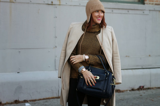 Peplum, Coat, Trapper, hat, J. Crew, turtleneck