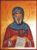 Sfantul Antonie cel Mare, icoana pictata pe lemn