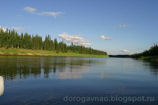 А вроде бы большая река, но такая мелкая, река Шапкина