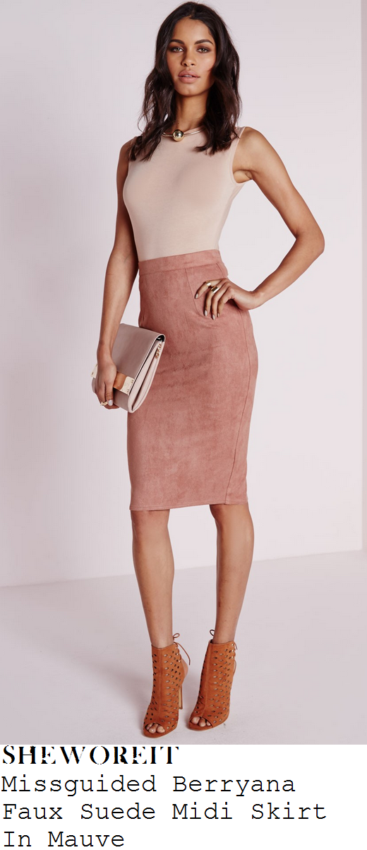 sam-faiers-pink-faux-suede-pencil-midi-skirt