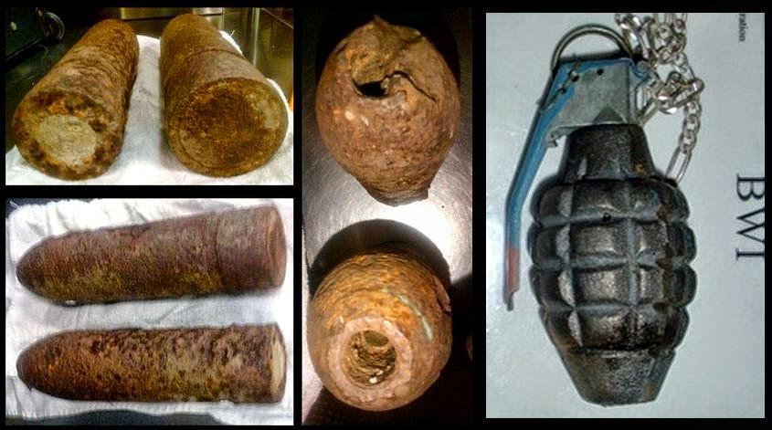 Inert WWI Artillery Shells (ORD) - Inert Grenade (BWI)