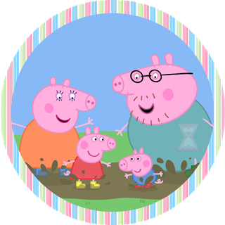 Toppers, stickers o etiquetas de Peppa Pig para Imprimir Gratis.