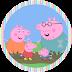 Peppa Pig Jugando: Etiquetas para Candy Bar para Imprimir Gratis.