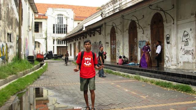 Di salah satu sudut Kota Lama, Semarang